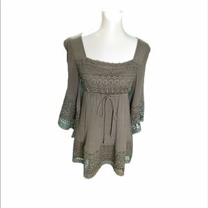 | In The Beginning | dress | olive green